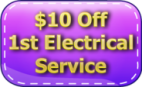 $10 Off 1st Electrical Service Coupon